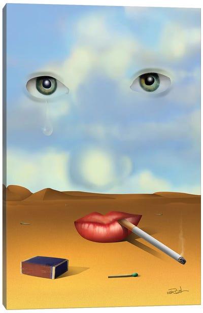Retrato Com Cigarro (Portrait With Cigarette) Canvas Art Print