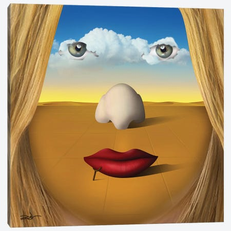 Rosto (Face) Canvas Print #MCA45} by Marcel Caram Canvas Art
