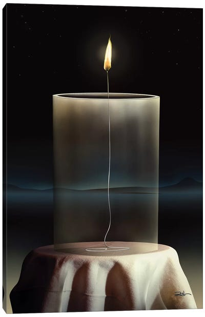 Vela Vidro (Candle Glass) Canvas Art Print
