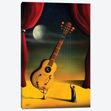 Violao (Guitar) Canvas Print #MCA47} by Marcel Caram Canvas Wall Art