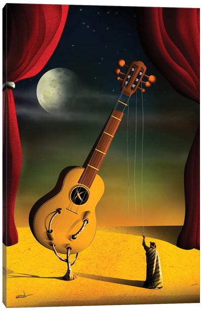 Violao (Guitar) Canvas Art Print