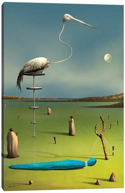 A Garça (The Crane) Canvas Art Print