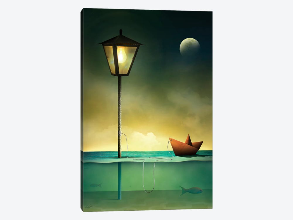 Barquinho em Repouso (Toy Boat At Rest) 1-piece Canvas Wall Art