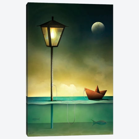 Barquinho em Repouso (Toy Boat At Rest) Canvas Print #MCA7} by Marcel Caram Canvas Print