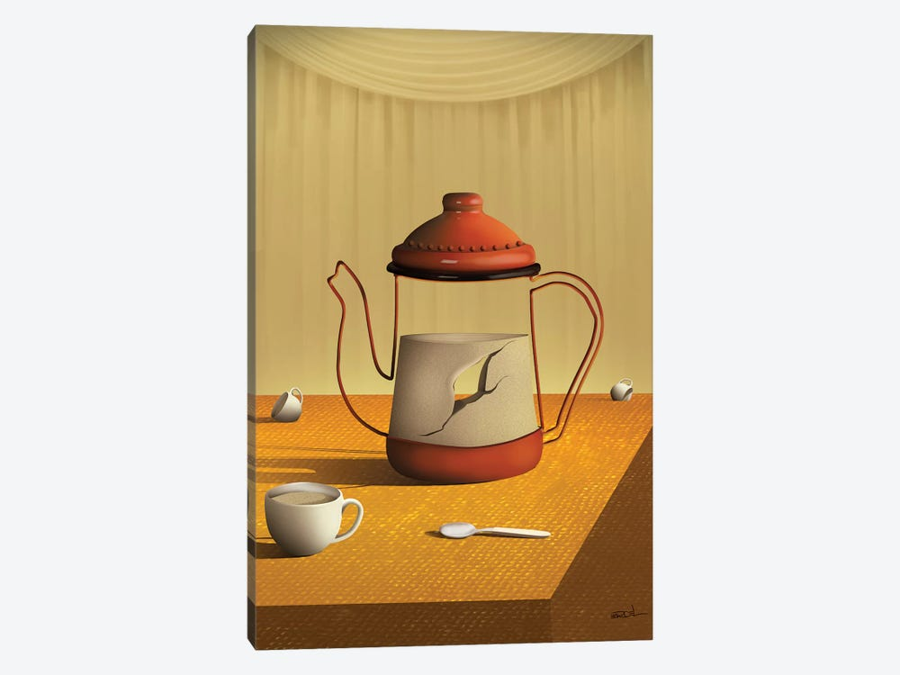 Bule Sobre a Mesa (Teapot On Table) by Marcel Caram 1-piece Art Print