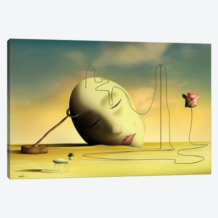 Cabeça Pensante II (Thinking Head II) Canvas Print #MCA9} by Marcel Caram Canvas Art