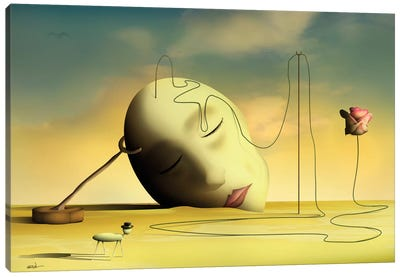 Cabeça Pensante II (Thinking Head II) Canvas Art Print