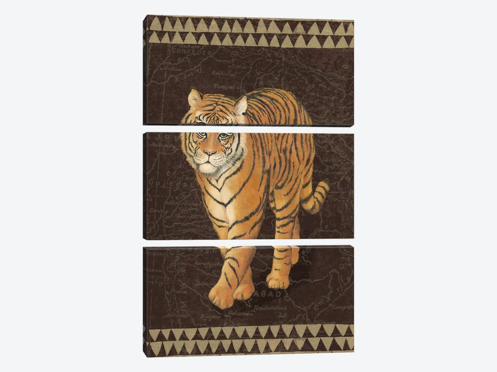 Grand Tiger Traveller by Naomi McBride 3-piece Canvas Wall Art
