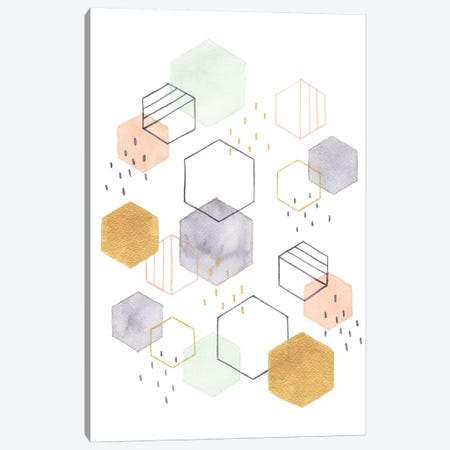 Hex Scatter I Canvas Print #MCC1} by Gabrielle McClure Canvas Wall Art