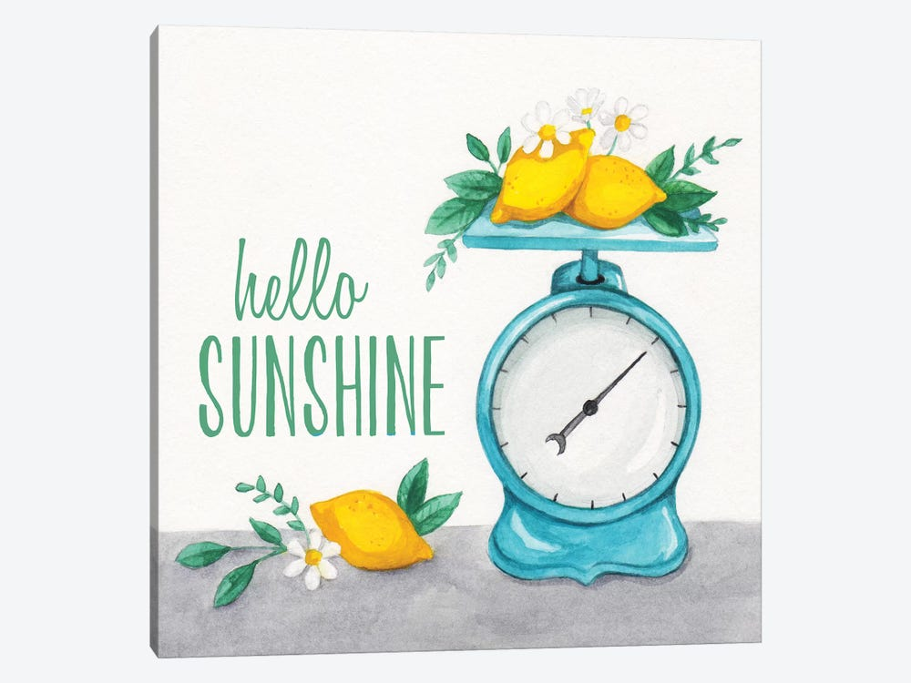Lemon Scale I by Gabrielle McClure 1-piece Canvas Art
