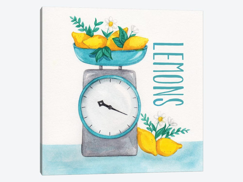 Lemon Scale II by Gabrielle McClure 1-piece Canvas Art Print