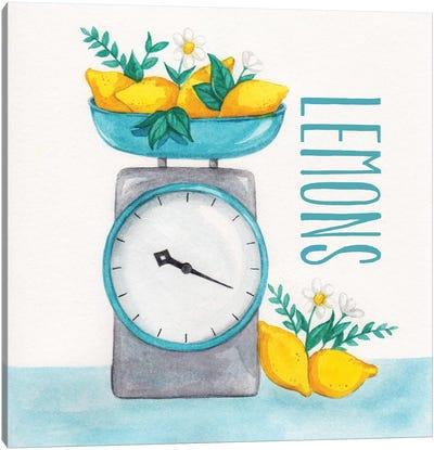 Lemon Scale II Canvas Art Print