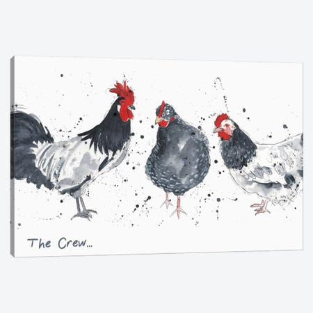 The Crew 3-Piece Canvas #MCE10} by Michelle Campbell Canvas Wall Art
