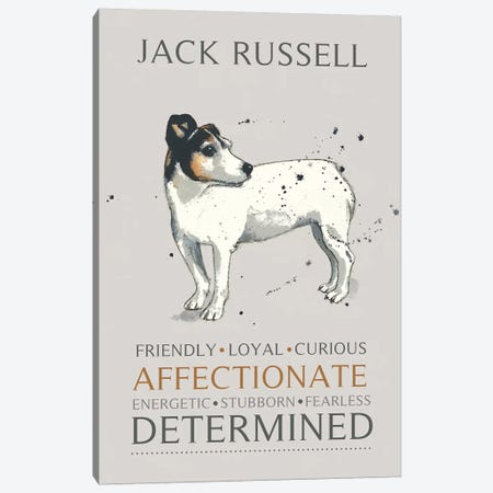 Jack Russell Canvas Print #MCE13} by Michelle Campbell Canvas Art
