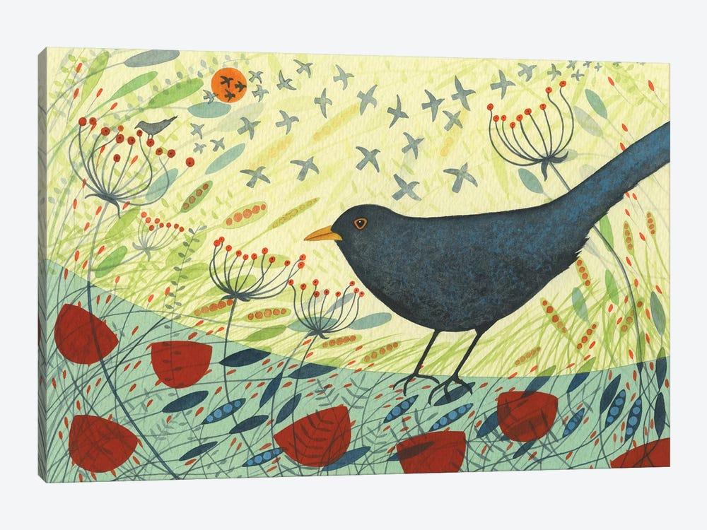 Blackbird & Crow by Michelle Campbell 1-piece Art Print