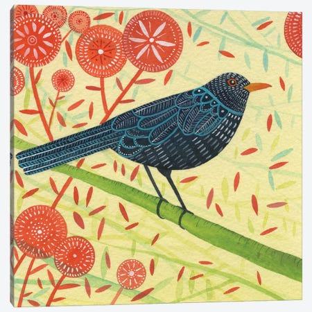 Blackbird Pair II Canvas Print #MCE18} by Michelle Campbell Canvas Artwork