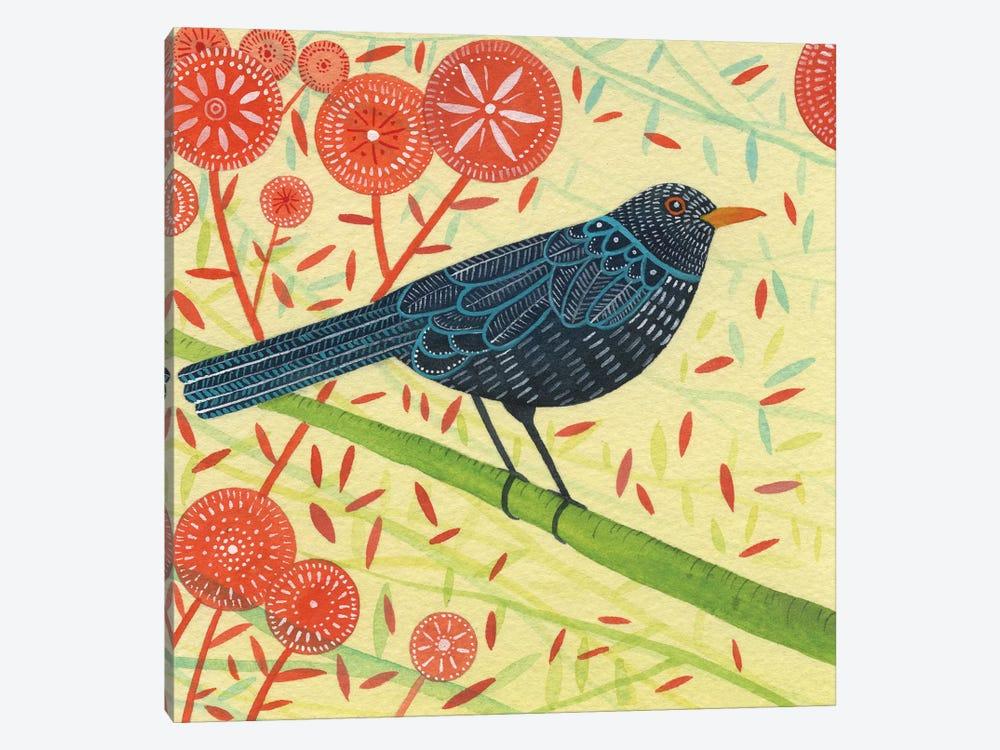 Blackbird Pair II by Michelle Campbell 1-piece Canvas Artwork