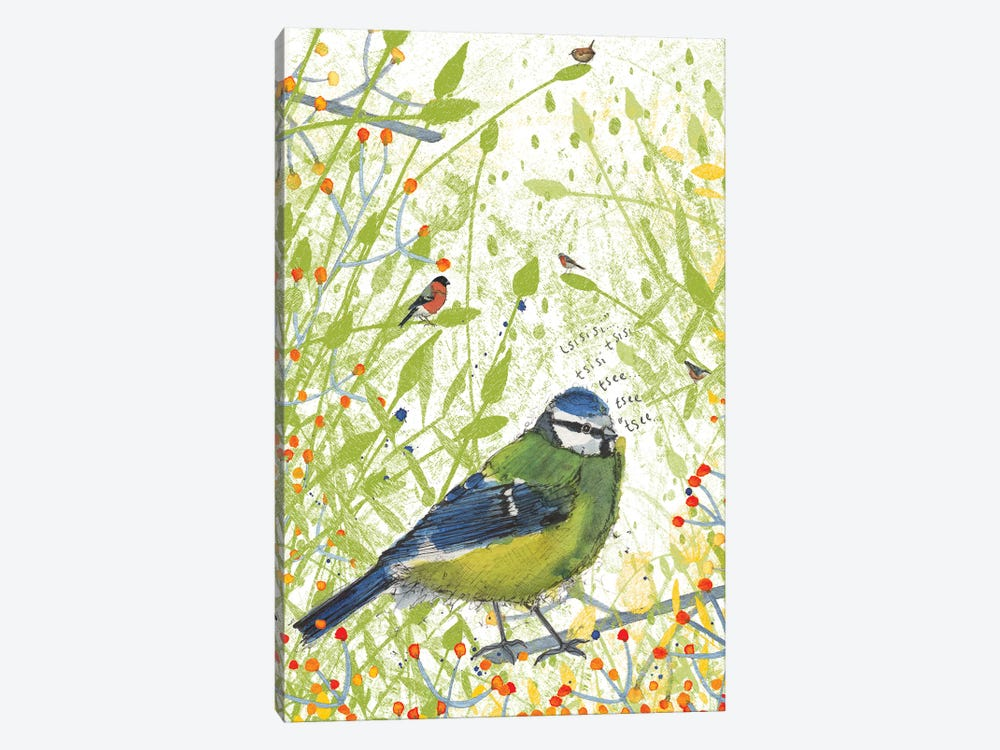 Blue Tit by Michelle Campbell 1-piece Canvas Art Print