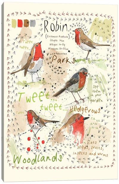 Birds In Your Garden - Robin Canvas Art Print