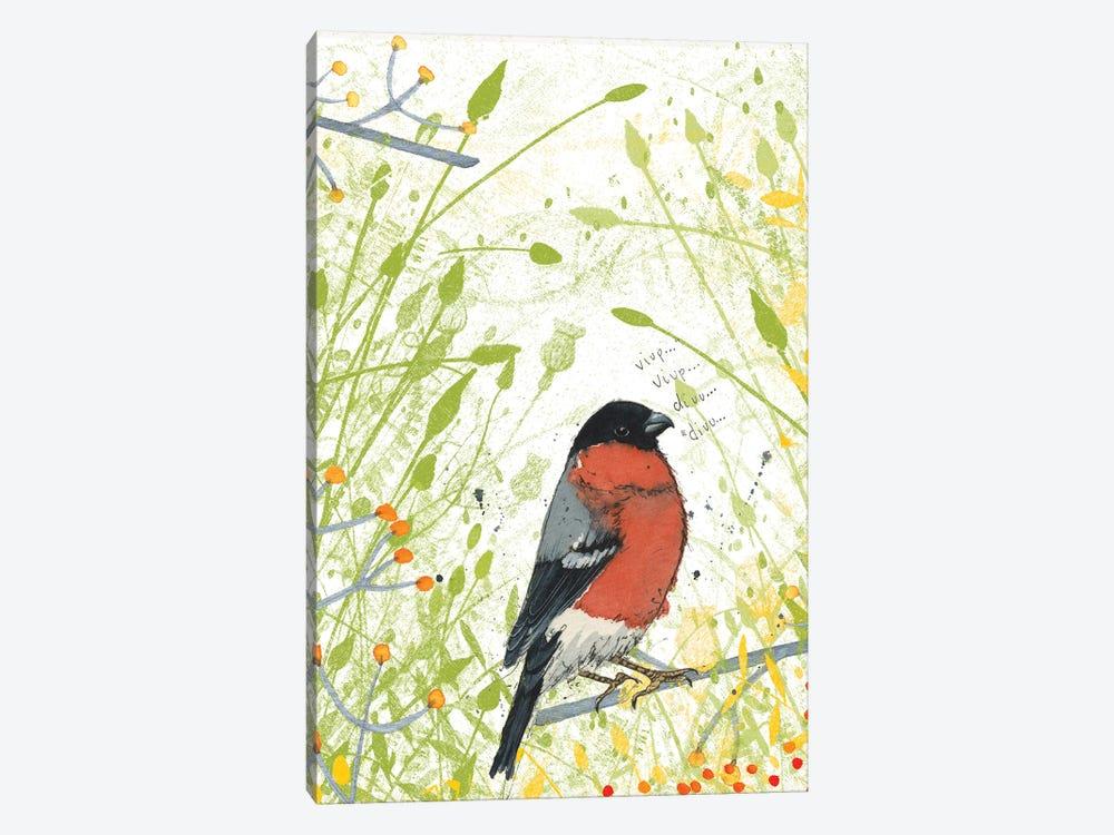 Bullfinch by Michelle Campbell 1-piece Art Print