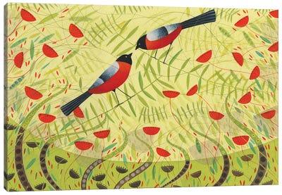 Bullfinches Canvas Art Print