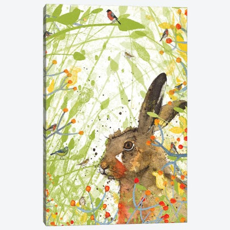 Hare (Birdsong) Canvas Print #MCE25} by Michelle Campbell Canvas Wall Art