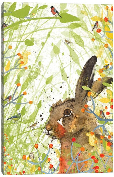 Hare (Birdsong) Canvas Art Print
