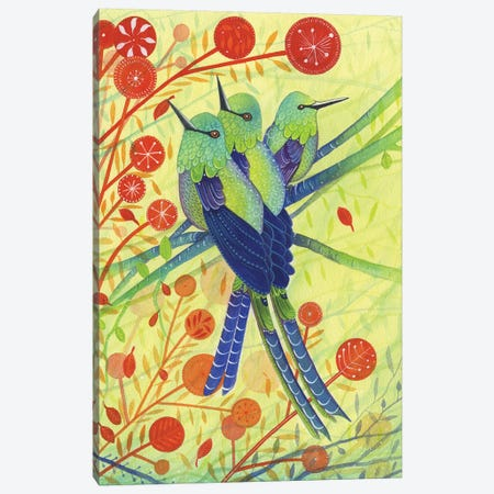Hummingbirds 3-Piece Canvas #MCE27} by Michelle Campbell Canvas Art