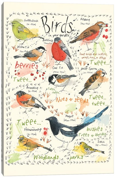 Birds In Your Garden I Canvas Art Print