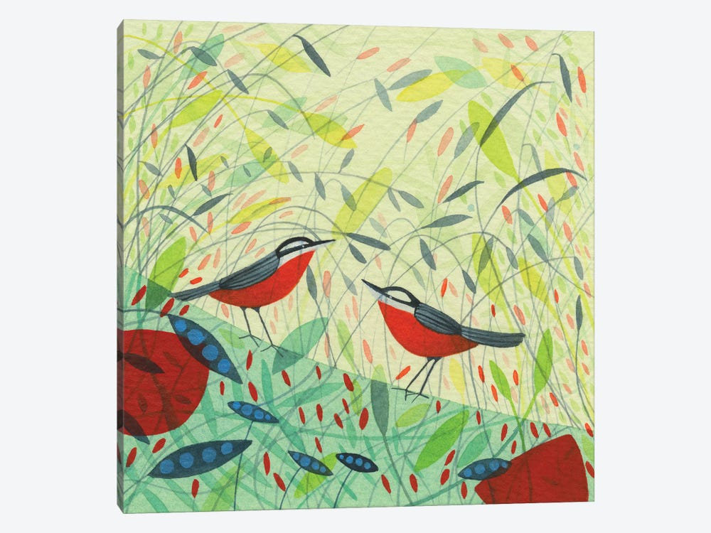 Nuthatches Design by Michelle Campbell 1-piece Canvas Artwork