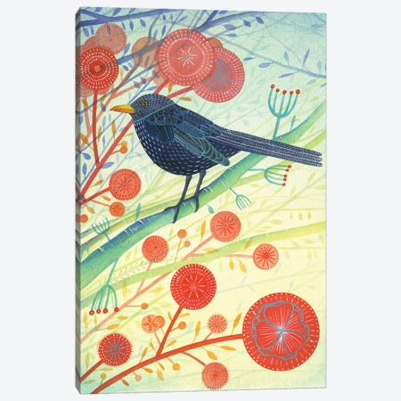 The Blackbird Canvas Print #MCE37} by Michelle Campbell Canvas Print