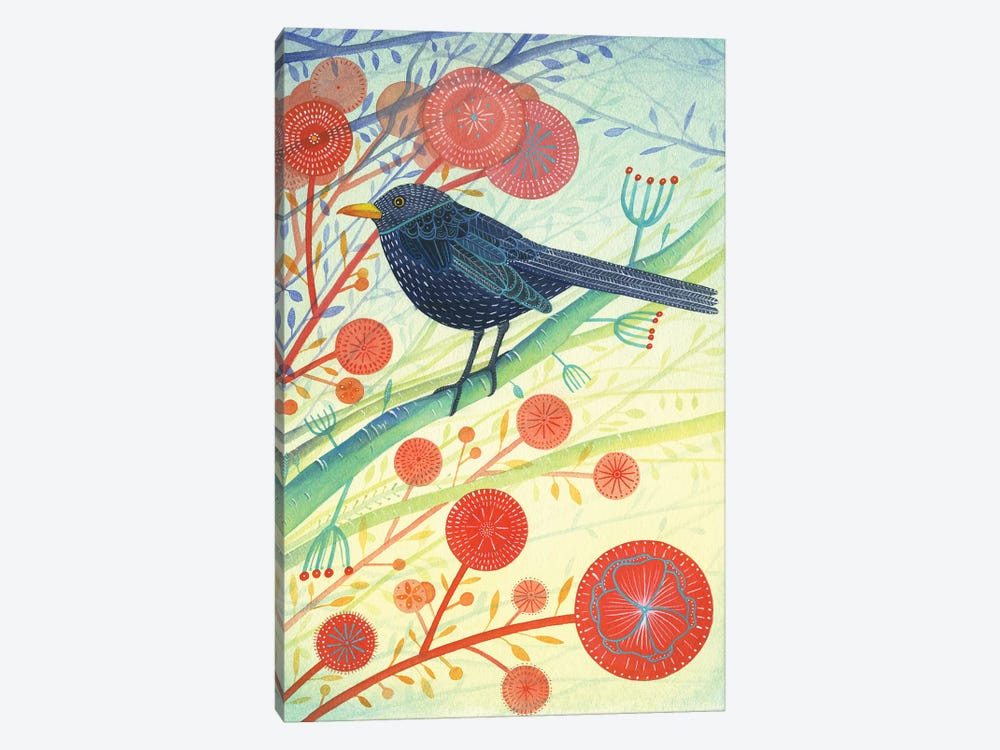 The Blackbird by Michelle Campbell 1-piece Canvas Print