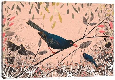 The First Blackbird Canvas Art Print