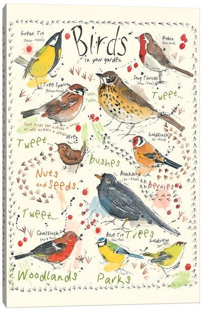 Birds In Your Garden II Canvas Art Print