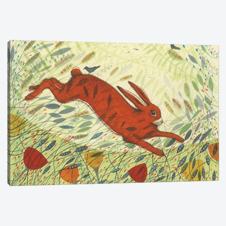 The Hare & The Crows Canvas Print #MCE40} by Michelle Campbell Canvas Print