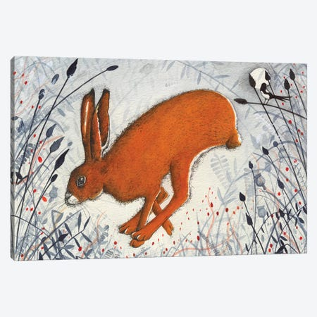 The Hare The Magpie Canvas Print #MCE41} by Michelle Campbell Art Print