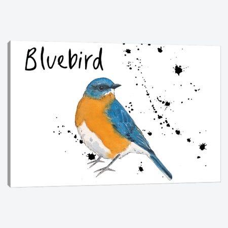 Bluebird Canvas Print #MCE47} by Michelle Campbell Canvas Art