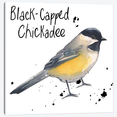 Chickadee Canvas Print #MCE50} by Michelle Campbell Canvas Art