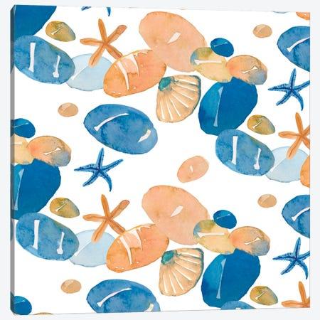 Pebble Beach Canvas Print #MCE54} by Michelle Campbell Art Print