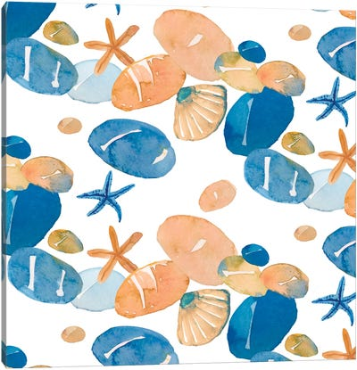 Pebble Beach Canvas Art Print