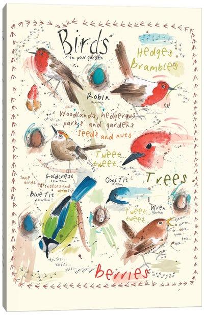 Birds In Your Garden IV Canvas Art Print