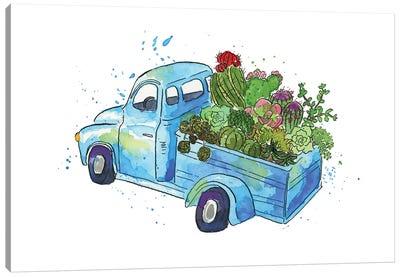 Flower Truck I Canvas Art Print