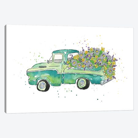 Flower Truck II Canvas Print #MCG2} by Catherine McGuire Canvas Art