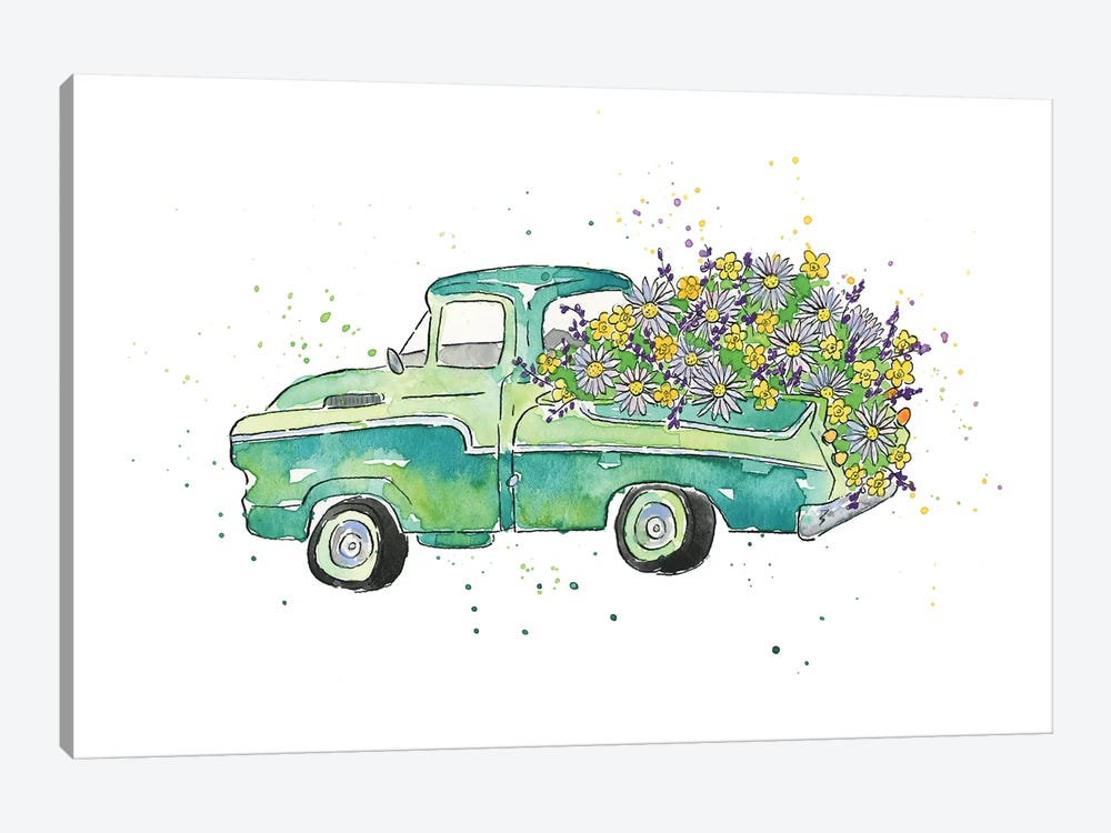 Flower Truck II 1-piece Canvas Art Print