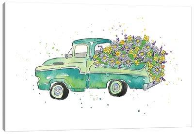Flower Truck II Canvas Art Print