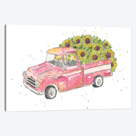 Flower Truck III Canvas Print #MCG3} by Catherine McGuire Canvas Art