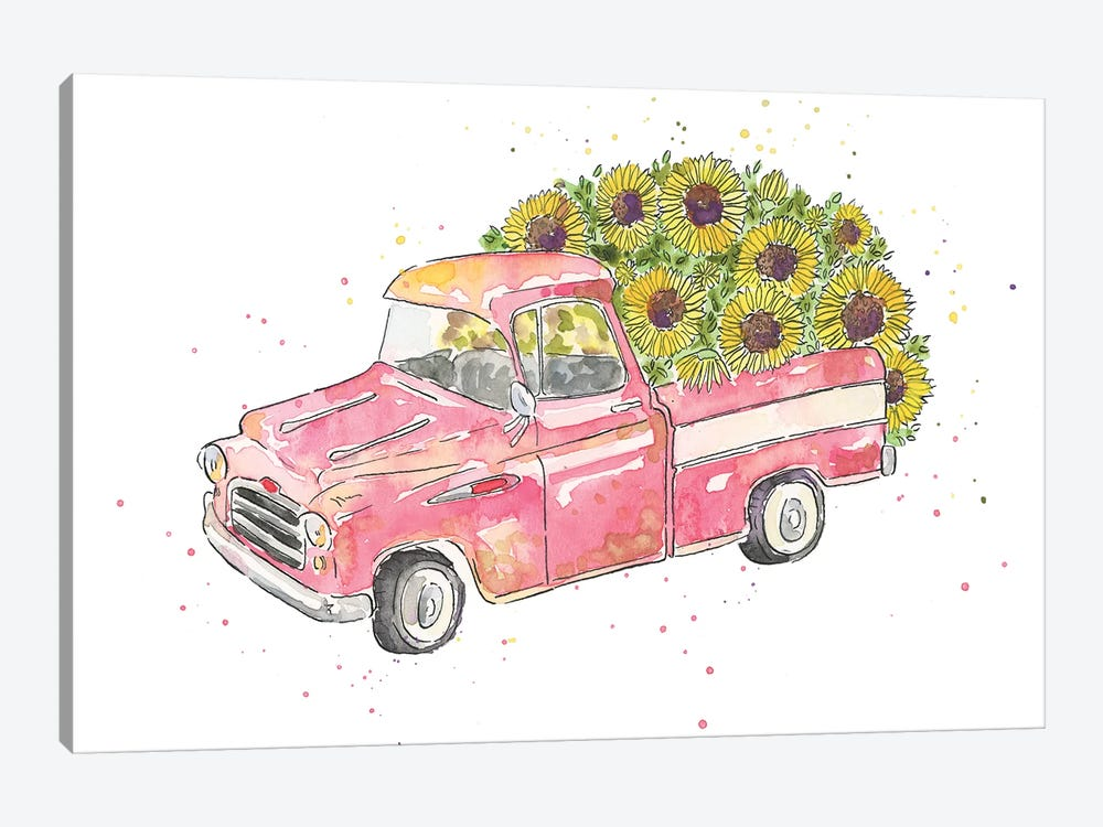 Flower Truck III by Catherine McGuire 1-piece Canvas Art