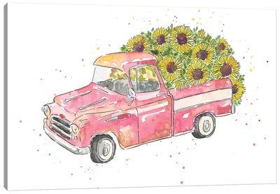 Flower Truck III Canvas Art Print