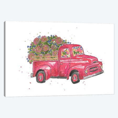 Flower Truck IV Canvas Print #MCG4} by Catherine McGuire Canvas Art Print