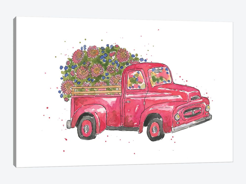 Flower Truck IV by Catherine McGuire 1-piece Art Print